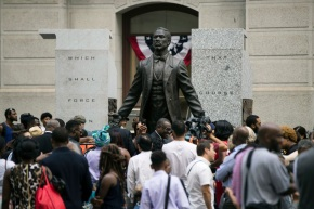 Philadelphia honors black activist with City Hall statue