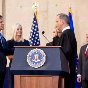 Wray installed as FBI director; Trump absent at ceremony