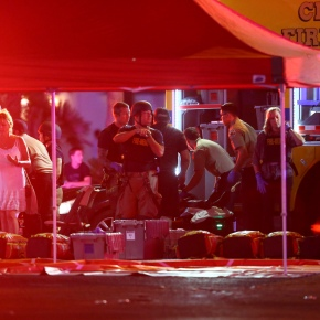 The Latest: Vegas gunman bought 33 weapons in last year