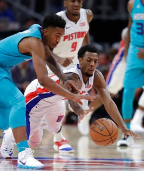 Harris-led Pistons beat Hornets 102-90 in return downtown