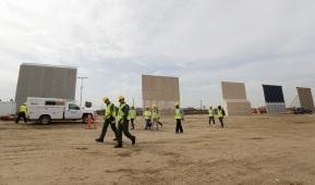 Trump's border wall models take shape in SanDiego