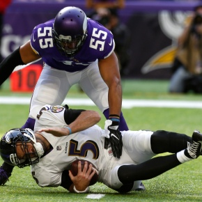 Murray, Vikings defense plow through Ravens, 24-16
