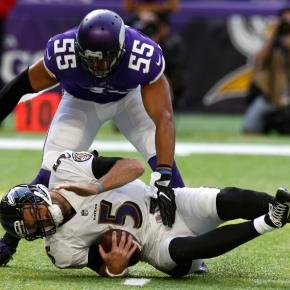 Murray, Vikings defense plow through Ravens,24-16