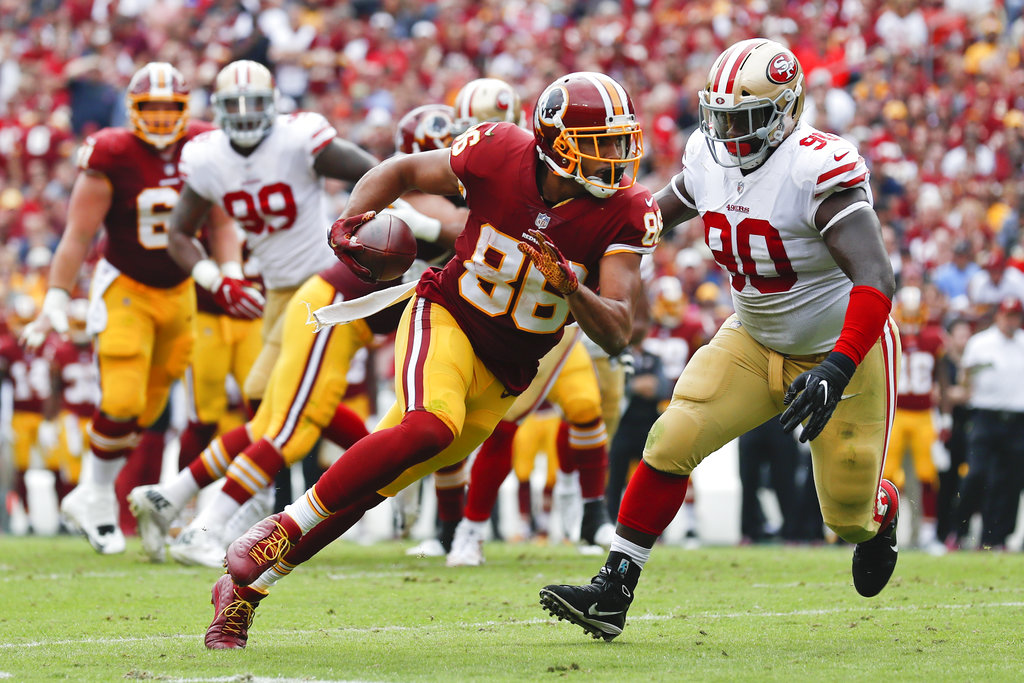 Jordan Reed not expected to play in Week 9 with hamstring injury