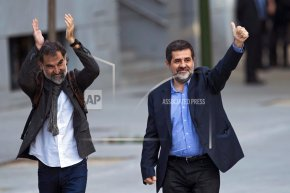Court jails 2 Catalan independence leaders in sedition probe