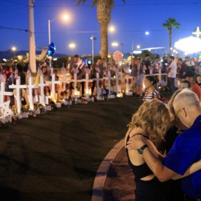 The Latest: Vegas hockey team honors victims of shooting