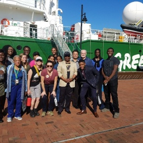 NSU gets private tour of Greenpeace ship Arctic Sunrise