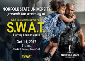 "CBS previews new ""S.W.A.T."" show on NSU campus"