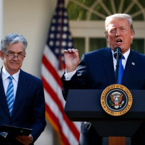 The Latest: Trumps nominates Jerome Powell for Fed chair