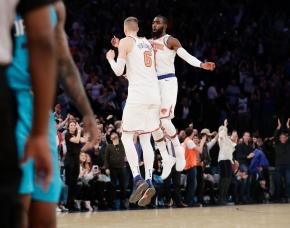 Porzingis hits tiebreaking 3, Knicks beat Hornets118-113