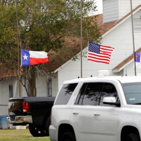 Authorities review video of small-town Texas church attack