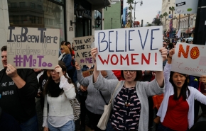 Hundreds in Hollywood march against sexual harassment