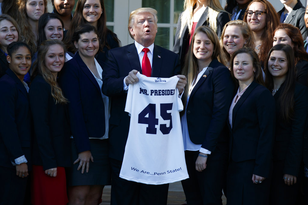 Penn State's wrestling, women's rugby teams visit the White House