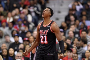 Whiteside, Heat lead by 25, hold on to beat Wizards 91-88