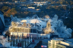 3-2-1, BAM! Georgia Dome imploded in downtown Atlanta