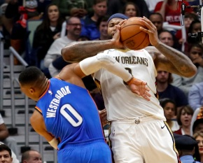 Pelicans rally after Cousins ejection, beat Thunder 114-107