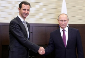 On surprise Russia trip, Assad and Putin talk post-war Syria