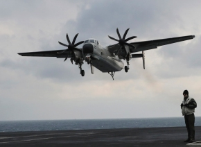 US Navy plane with 11 aboard crashes into Pacific; 8 rescued
