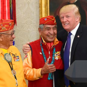 Trump, honoring Navajos, revives 'Pocahontas' jab at Warren