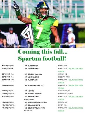 2019 Spartan footballschedule